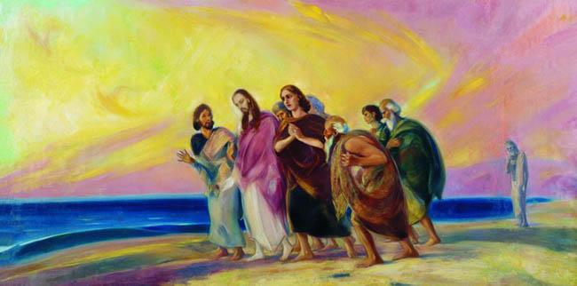 С.Н.Рерих. Христос с учениками. Конец 1930-х-начало 1940-х гг.